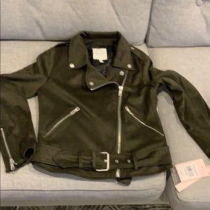 Avec Les Filles Olive Moto style jacket size S